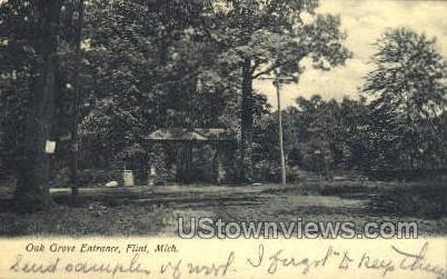 Oak Grove Entrance - Flint, Michigan MI Postcard