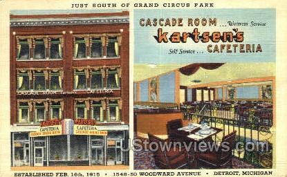 Kartsen's Cafeteria - Detroit, Michigan MI Postcard