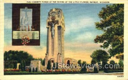 Charity Tower - Detroit, Michigan MI Postcard