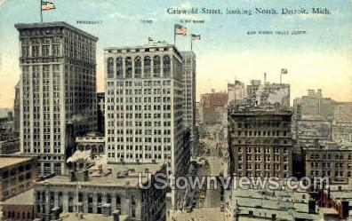 Griswold Street - Detroit, Michigan MI Postcard