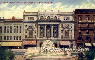 Detroit Opera House - Michigan MI Postcard