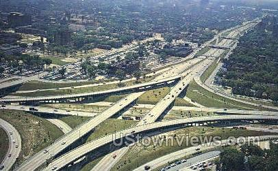 John Lodge Expressways - Detroit, Michigan MI Postcard
