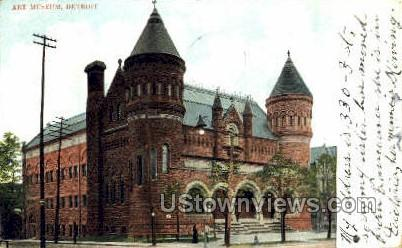 Art Museum - Detroit, Michigan MI Postcard