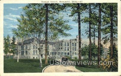 Normal School, Marquette - Michigan MI Postcard