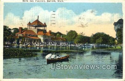 Belle Isle Pavilion - Detroit, Michigan MI Postcard
