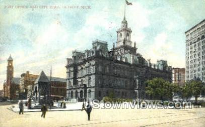 Post Office & City Hall - Detroit, Michigan MI Postcard