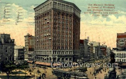 The Majestic Bldg - Detroit, Michigan MI Postcard