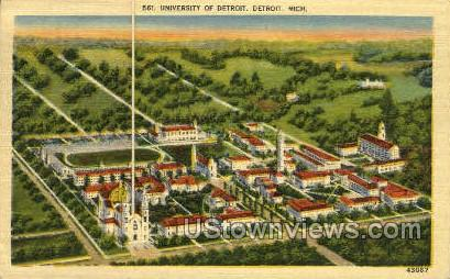 University of Detroit - Michigan MI Postcard