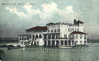 Yacht Club - Detroit, Michigan MI Postcard