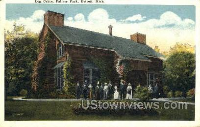 Log Cabin, Palmer Park - Detroit, Michigan MI Postcard