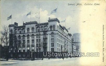 Cadillac Hotel - Detroit, Michigan MI Postcard