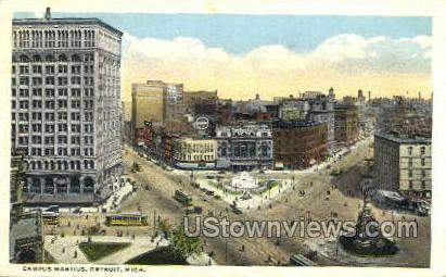 Campus Martius - Detroit, Michigan MI Postcard