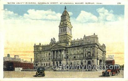 Wayne County Bldg - Detroit, Michigan MI Postcard