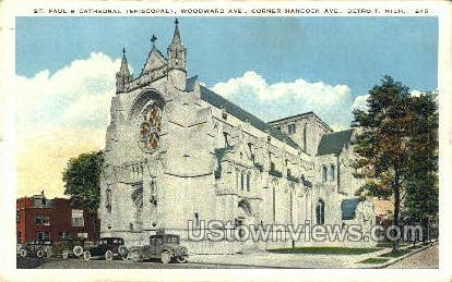 St. Paul's Cathedral - Detroit, Michigan MI Postcard