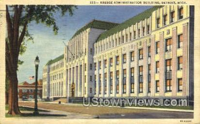 Kresge Admin. Bldg - Detroit, Michigan MI Postcard