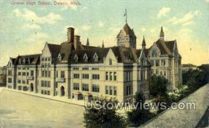 Central High School - Detroit, Michigan MI Postcard