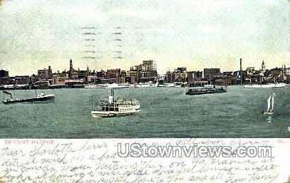 Detroit Harbor - Michigan MI Postcard
