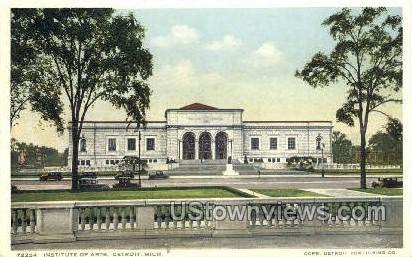 Institute of Arts - Detroit, Michigan MI Postcard