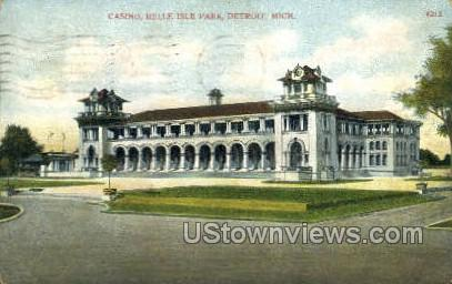 Casino, Belle Isle - Detroit, Michigan MI Postcard