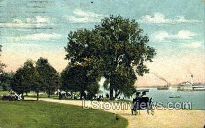 Drive Way, Belle Isle - Detroit, Michigan MI Postcard
