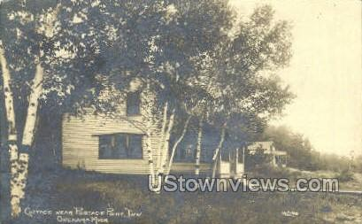Cottage, Portage Point Inn - Onekama, Michigan MI Postcard
