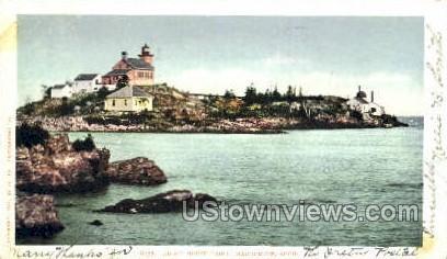 Light House Point - Marquette, Michigan MI Postcard
