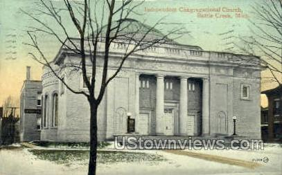 Independence Congregational Church - Battle Creek, Michigan MI Postcard