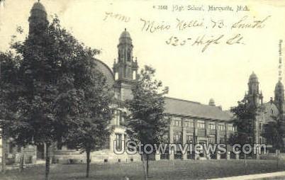 High School, Marquette - Michigan MI Postcard