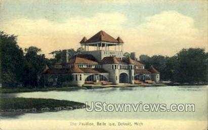 The Pavilion, Belle Island - Detroit, Michigan MI Postcard
