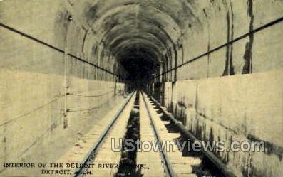 Detroit River Tunnel - Michigan MI Postcard