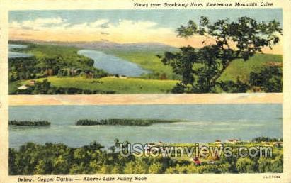 Brockway Nose - Keweenaw Mountain, Michigan MI Postcard
