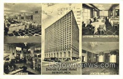 Detroit Leland Hotel - Michigan MI Postcard
