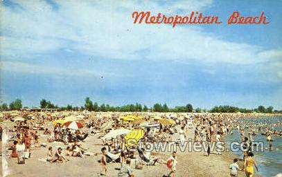 Metropolitan Beach - Detroit, Michigan MI Postcard