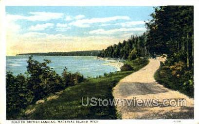 British Landing - Mackinac Island, Michigan MI Postcard