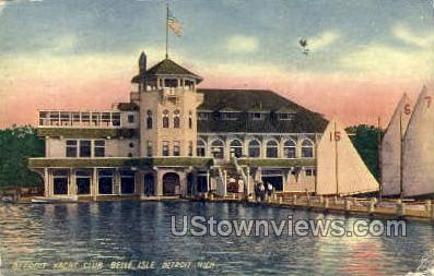Detroit Yacht Club - Michigan MI Postcard