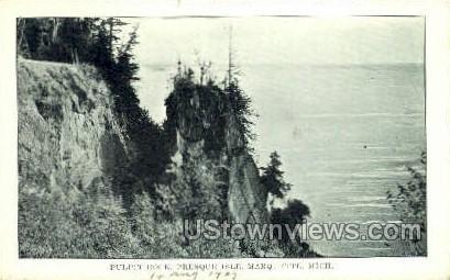 Pulpit Rock - Marquette, Michigan MI Postcard