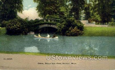 Canal, Belle Isle Park - Detroit, Michigan MI Postcard