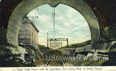 Grand Trunk Tunnel - Port Huron, Michigan MI Postcard