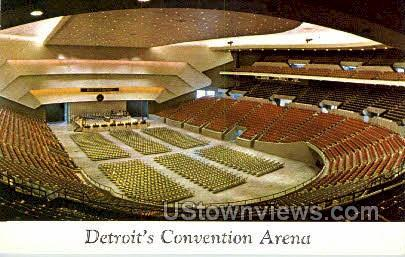 Detroit's Convention Arena - Michigan MI Postcard