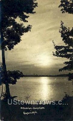 Olsego Lake - Gaylord, Michigan MI Postcard