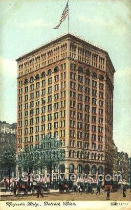 Majestic Bldg - Detroit, Michigan MI Postcard
