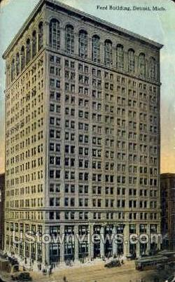 Ford Bldg - Detroit, Michigan MI Postcard