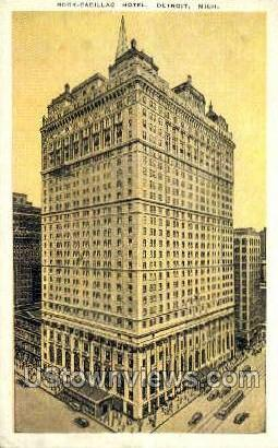 Book-Cadillac Hotel - Detroit, Michigan MI Postcard