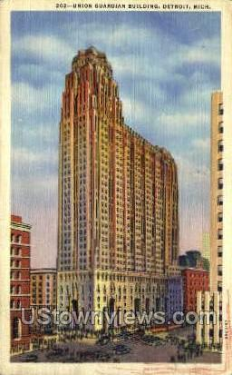 Union Guardian Bldg - Detroit, Michigan MI Postcard