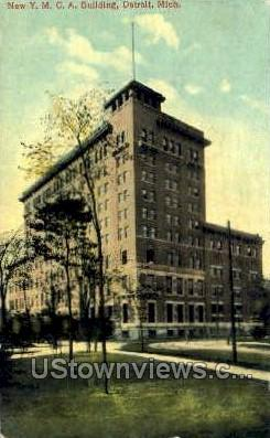 YMCA Bldg - Detroit, Michigan MI Postcard