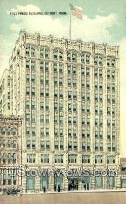 Free Press Bldg - Detroit, Michigan MI Postcard