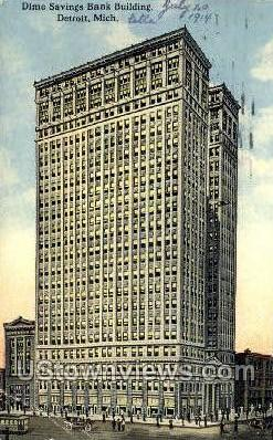 Dime Savings Bank Bldg - Detroit, Michigan MI Postcard