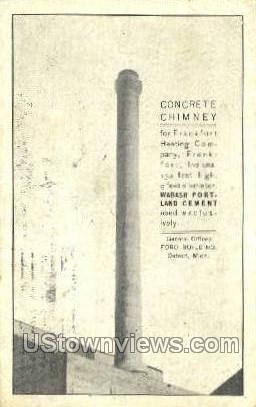 Concrete Chimney - Detroit, Michigan MI Postcard