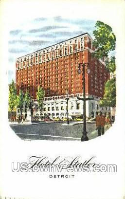 Hotel Statler - Detroit, Michigan MI Postcard