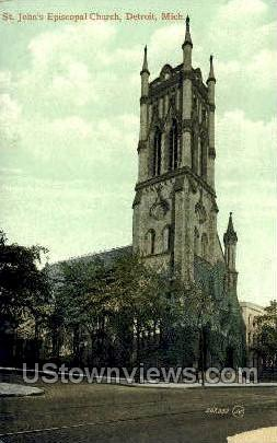 St. John's Episcopal Church - Detroit, Michigan MI Postcard